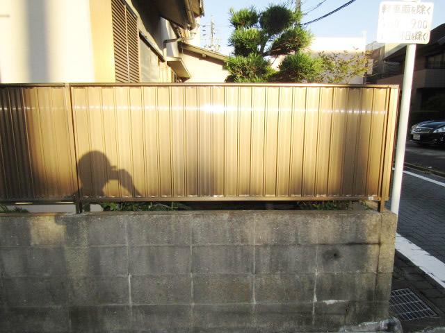 愛知県名古屋市港区 囲いフェンス修理