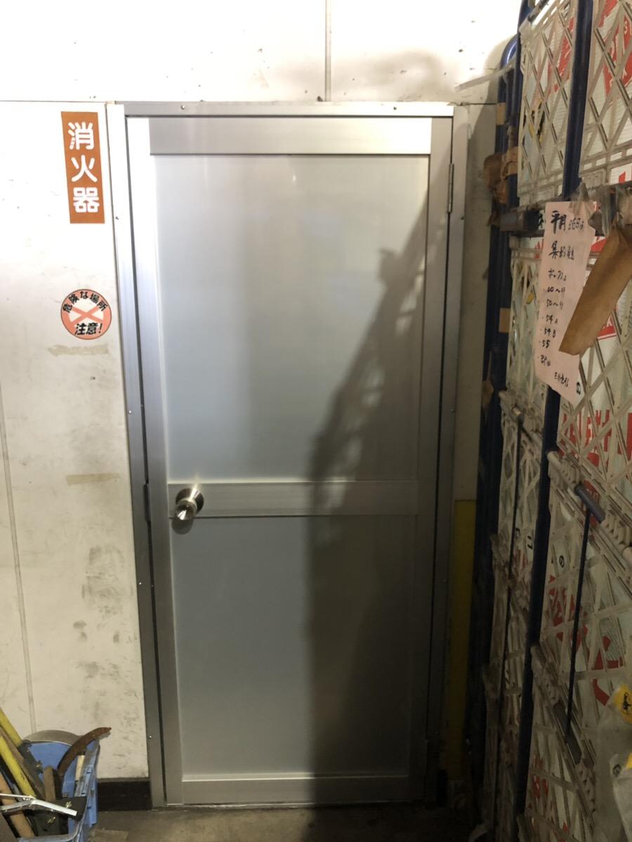愛知県名古屋市中川区事務所ドア修理取付工事