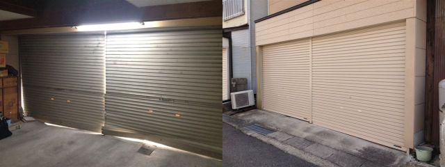 軽量ガレージシャッター取替え工事 防犯対策 防音対策 愛知県西尾市