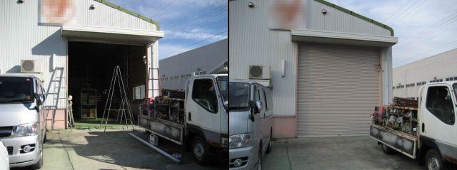 倉庫 軽量電動シャッター取替工事 愛知県名古屋市