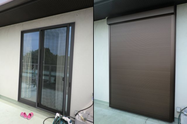 電動スリットシャッター取付工事 窓の防犯対策 愛知県名古屋市