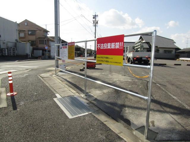 愛知県名古屋市名東区 駐車場 フェンス枠設置